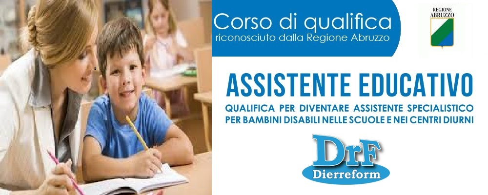 "Corso di Qualifica ""Assistente Educativo"""
