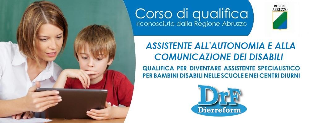 """Corso di Qualifica """"Assistente all'autonomia e alla comunicazione dei disabili"""" (ex Assistente Educativo)"""