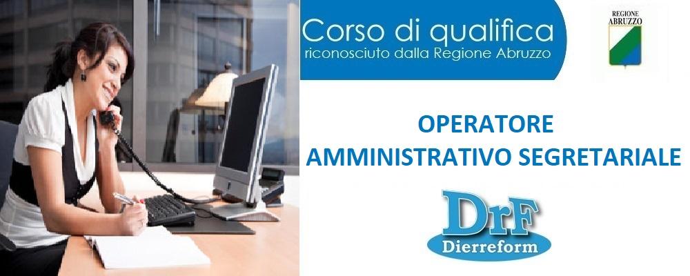 """Corso di Qualifica """"Operatore amministrativo segretariale"""""""